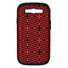 Abstract Background Red Black Samsung Galaxy S Iii Hardshell Case (pc+silicone) by Nexatart