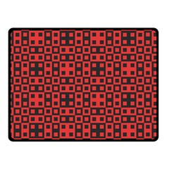Abstract Background Red Black Double Sided Fleece Blanket (small)  by Nexatart