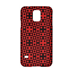 Abstract Background Red Black Samsung Galaxy S5 Hardshell Case  by Nexatart