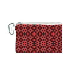Abstract Background Red Black Canvas Cosmetic Bag (s) by Nexatart