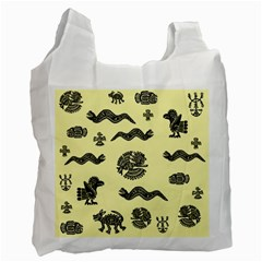 Aztecs Pattern Recycle Bag (two Side)  by ValentinaDesign