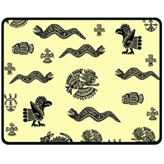 Aztecs Pattern Fleece Blanket (medium)  by ValentinaDesign