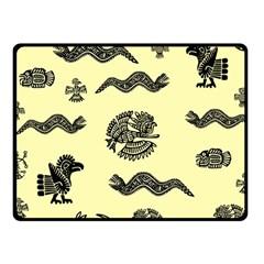 Aztecs Pattern Fleece Blanket (small) by ValentinaDesign