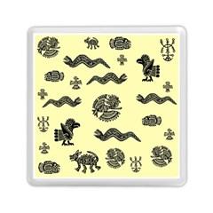 Aztecs Pattern Memory Card Reader (square)  by ValentinaDesign