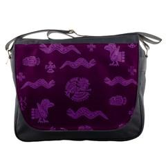Aztecs Pattern Messenger Bags by ValentinaDesign