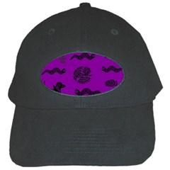 Aztecs Pattern Black Cap by ValentinaDesign