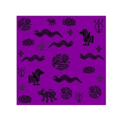 Aztecs Pattern Small Satin Scarf (square) by ValentinaDesign