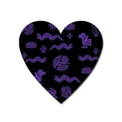 Aztecs Pattern Heart Magnet by ValentinaDesign