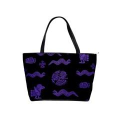 Aztecs Pattern Shoulder Handbags by ValentinaDesign