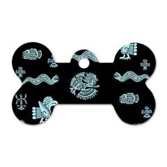 Aztecs Pattern Dog Tag Bone (one Side) by ValentinaDesign