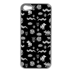Aztecs Pattern Apple Iphone 5 Case (silver) by ValentinaDesign