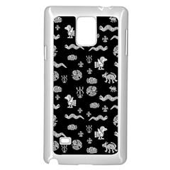 Aztecs Pattern Samsung Galaxy Note 4 Case (white) by ValentinaDesign