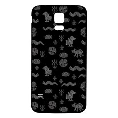 Aztecs Pattern Samsung Galaxy S5 Back Case (white) by ValentinaDesign