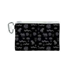 Aztecs Pattern Canvas Cosmetic Bag (s) by ValentinaDesign