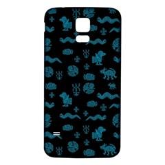 Aztecs Pattern Samsung Galaxy S5 Back Case (white) by ValentinaDesign
