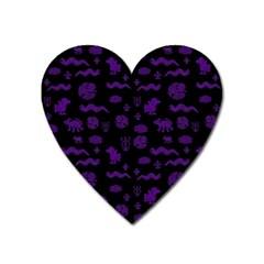 Aztecs Pattern Heart Magnet by ValentinaDesign
