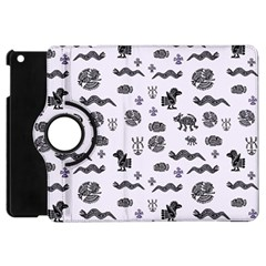 Aztecs Pattern Apple Ipad Mini Flip 360 Case by ValentinaDesign