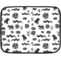 Aztecs Pattern Fleece Blanket (mini) by ValentinaDesign