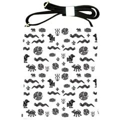 Aztecs Pattern Shoulder Sling Bags by ValentinaDesign