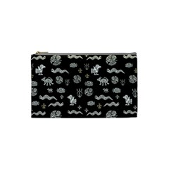 Aztecs Pattern Cosmetic Bag (small)  by ValentinaDesign
