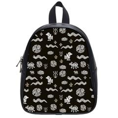 Aztecs Pattern School Bags (small)  by ValentinaDesign