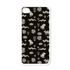 Aztecs Pattern Apple Iphone 4 Case (white) by ValentinaDesign