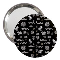 Aztecs Pattern 3  Handbag Mirrors by ValentinaDesign
