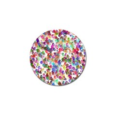 Colorful Spirals On A White Background             Golf Ball Marker (4 Pack) by LalyLauraFLM