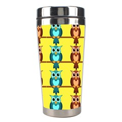 Owls Pattern            Stainless Steel Travel Tumbler by LalyLauraFLM