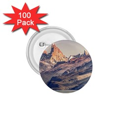 Fitz Roy And Poincenot Mountains Lake View   Patagonia 1 75  Buttons (100 Pack)  by dflcprints