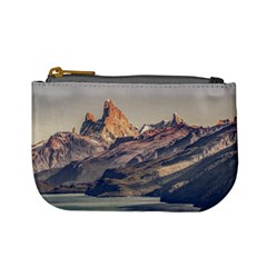 Fitz Roy And Poincenot Mountains Lake View   Patagonia Mini Coin Purses by dflcprints
