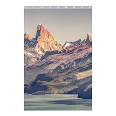 Fitz Roy And Poincenot Mountains Lake View   Patagonia Shower Curtain 48  X 72  (small)  by dflcprints