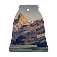 Fitz Roy And Poincenot Mountains Lake View   Patagonia Bell Ornament (two Sides) by dflcprints