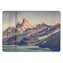 Fitz Roy And Poincenot Mountains Lake View   Patagonia Samsung Galaxy Tab 10 1  P7500 Flip Case by dflcprints