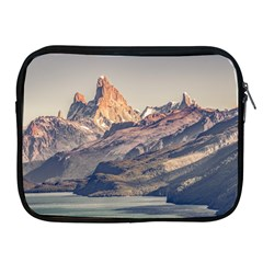 Fitz Roy And Poincenot Mountains Lake View   Patagonia Apple Ipad 2/3/4 Zipper Cases by dflcprints