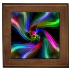 Abstract Art Color Design Lines Framed Tiles by Nexatart
