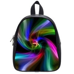 Abstract Art Color Design Lines School Bags (small)  by Nexatart