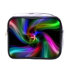 Abstract Art Color Design Lines Mini Toiletries Bags by Nexatart