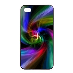 Abstract Art Color Design Lines Apple Iphone 4/4s Seamless Case (black) by Nexatart