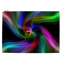 Abstract Art Color Design Lines Cosmetic Bag (xxl)  by Nexatart