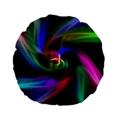 Abstract Art Color Design Lines Standard 15  Premium Round Cushions by Nexatart