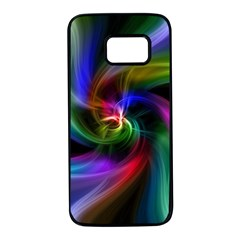 Abstract Art Color Design Lines Samsung Galaxy S7 Black Seamless Case by Nexatart
