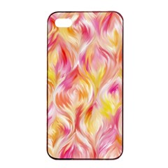 Pretty Painted Pattern Pastel Apple Iphone 4/4s Seamless Case (black) by Nexatart