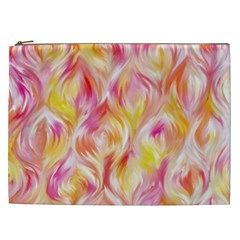 Pretty Painted Pattern Pastel Cosmetic Bag (xxl)  by Nexatart