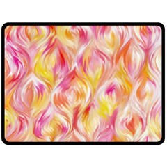 Pretty Painted Pattern Pastel Double Sided Fleece Blanket (large)  by Nexatart