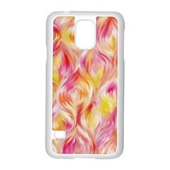 Pretty Painted Pattern Pastel Samsung Galaxy S5 Case (white) by Nexatart