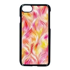 Pretty Painted Pattern Pastel Apple Iphone 7 Seamless Case (black) by Nexatart