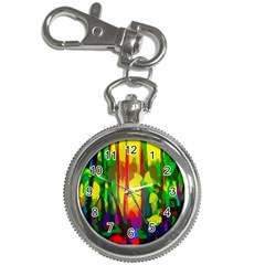 Abstract Vibrant Colour Botany Key Chain Watches by Nexatart