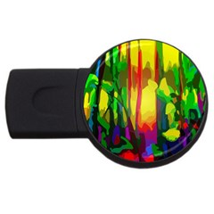 Abstract Vibrant Colour Botany Usb Flash Drive Round (2 Gb) by Nexatart