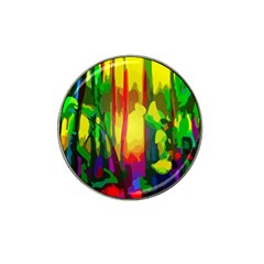 Abstract Vibrant Colour Botany Hat Clip Ball Marker (4 Pack) by Nexatart
